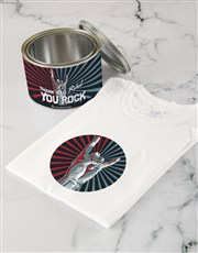 Personalised You Rock T shirt Tin