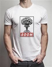 Personalised Heart Boom T Shirt Tin