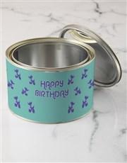 Personalised Birthday Balloon T shirt Tin