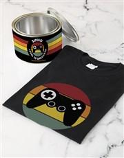 Personalised Gamer Birthday T Shirt Tin