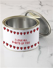 Personalised Love Heart T Shirt Tin