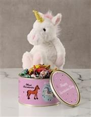Personalised Unicorn Secretary Tin
