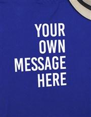 Personalised Blue Mens Long Sleeve Shirt