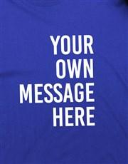 Personalised Royal Blue Mens T Shirt