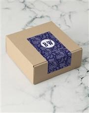 Personalised Navy Paisley Apparel Box