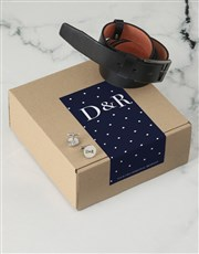 Personalised Navy Spotted Apparel Box