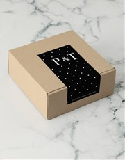 Personalised Black Spotted Apparel Box