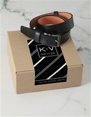 Personalised Black Stripe Apparel Box