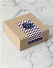 Personalised Navy Crossed Apparel Box