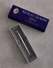 Personalised Blue Crest Parker Pen Gift Set