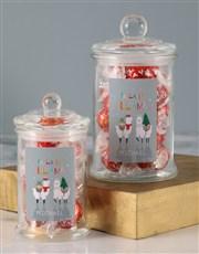 Personalised Fa La La Llama Lindt Candy Jar