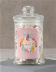 Personalised The Season Nougat Candy Jar