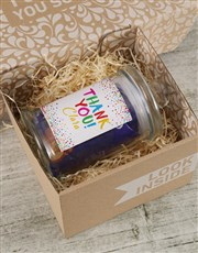 Personalised Thank You Whispers Candy Jar