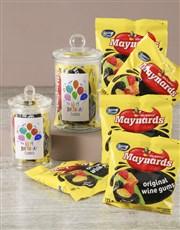 Personalised Birthday Maynards Candy Jar