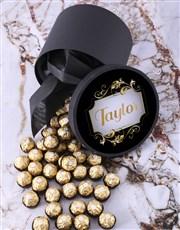 Personalised Elegant Ferrero Rocher Hatbox