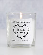 Burn a candle in memory of that special person wit