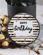 Personalised Birthday Ferrero Rocher Hatbox