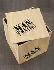 Personalised Birthday Celebrations Man Crate