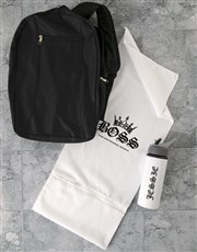 Personalised Royal Boss Gym Towel and Bottle