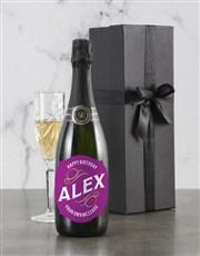 Personalised Pink Birthday Backsberg Wine
