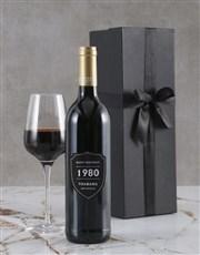Personalised Birthday Year Backsberg Wine