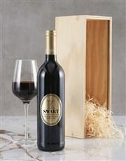 Personalised Modern Monogram Backsberg Wine