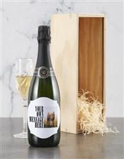 Personalised Modern Photo Backsberg Wine