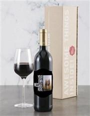 Personalised Classy Photo Backsberg Wine