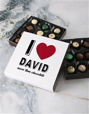 Personalised Love You Double Choc Tray