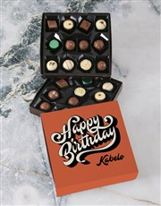 Personalised Birthday Wishes Double Choc Tray