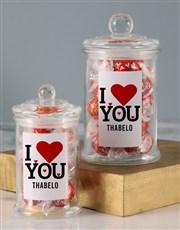 Personalised Love You Lindt Jar