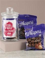 Personalised Whispers Love Jar