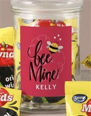 Personalised Bee Mine Wine Gums Jar