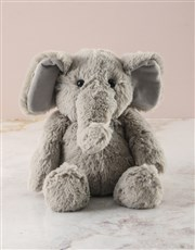 Personalised Love You Bucket with Elephant Toy