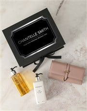 Personalised Pink Purse And Charlotte Rhys Hamper