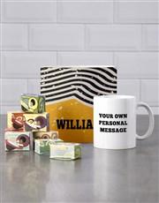 Personalised Rustic Mug Tube