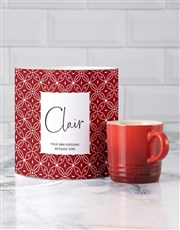 Personalised Cherry Le Creuset Mug Tube