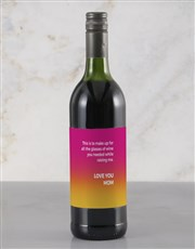 Personalised Thank You Mom Red Wine