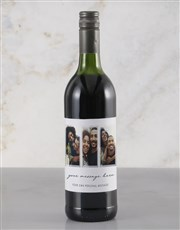 Personalised Triple Photo Red Wine