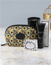Personalised Blissful Sunflower Cosmetic Bag