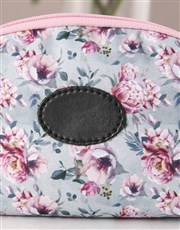 Pink Perfection Floral Cosmetic Bag