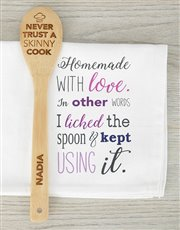A skinny cook can never be trusted, we say! A wood