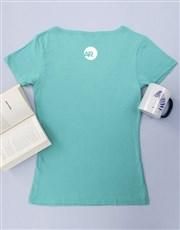 Personalised Aqua Break Into Song Ladies T Shirt