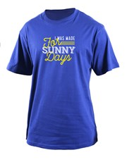 Celebrate sunny days with this royal blue T-Shirt