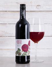 Send your sentiments with a bottle of red wine whi