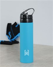 Personalised Silicone Water Bottle With Initials