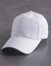 Personalised White Slogan Peak Cap