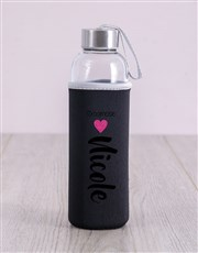 Personalised Bridesmaid Glitter Water Bottle
