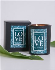 Let the love shine bright with this unique candle