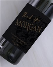 Personalised Vintage Thank You Wine